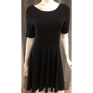 Express Black Skater Dress New With Tags